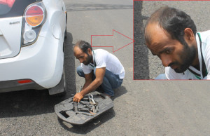Don't Stop When Someone Points Out a Puncture in Your Car
