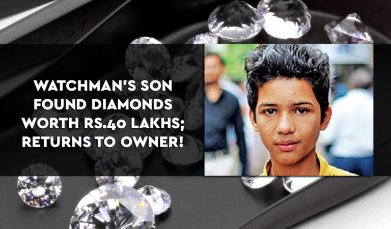 Watchman's Son Found Diamonds Worth Rs.40 Lakhs, What He Did Next Is Commendable!