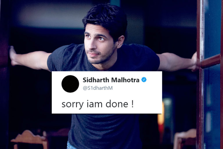 Siddharth Malhotra Quits Social Media And The Reason Will Make You Hate Him!