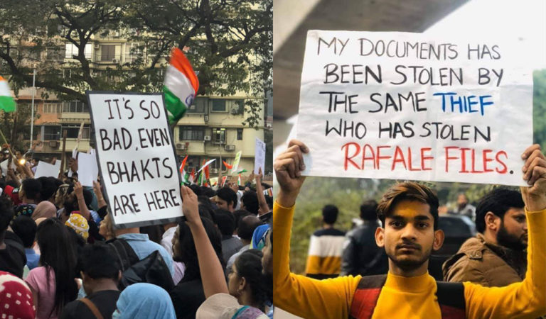 Students Get Creative & Witty With Posters At Protests Against CAA, NRC